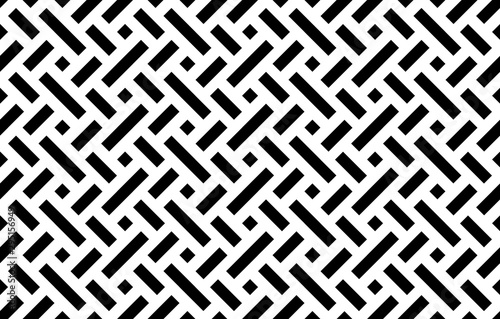 Fototapeten Künstlich Abstract geometric pattern. A seamless vector background. White and black ornament. Graphic modern pattern. Simple lattice graphic design