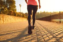 Rear View Of A Runner Walking ...