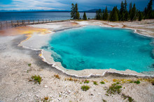Geothermal Feature At West Thumb At Yellowstone National Park (USA)