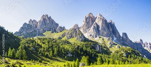 View of the Dolomite mountains near Misurina, Veneto - Italy Canvas Print