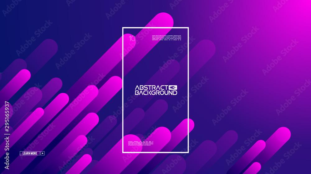 Fototapeta Geometric background flat layout template on purple gradient backdrop. Modern style future poster template. Graphic design element with geometric shape. Modern template vector design. EPS 10.