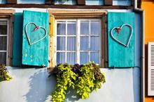 Wooden Shutter On Window In Colmar France