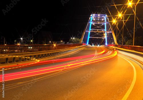 Fototapeta Nocne światła miasta. obraz