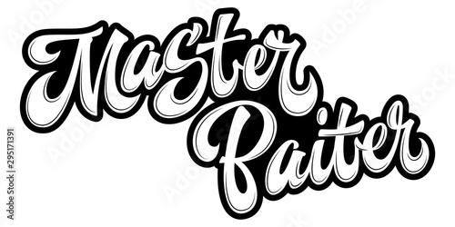 Photo Master Baiter - hand drawn lettering logo phrase