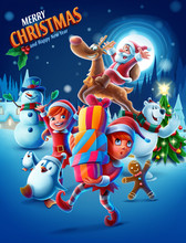 Vector Illustrated Christmas G...