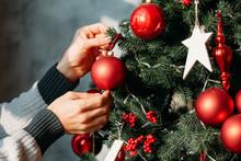 Winter Holidays Concept. Close...
