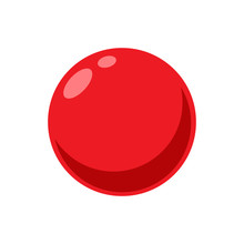 A Red Ball. Isolated Vector Illustration