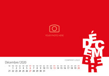 New Year Calendar 2020 French ...