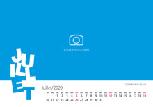 New Year Calendar 2020 French ...