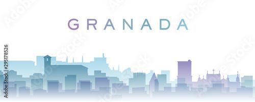 Granada Transparent Layers Gradient Landmarks Skyline