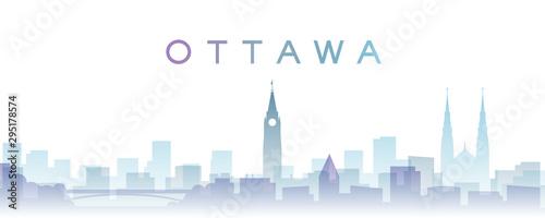 Ottawa Transparent Layers Gradient Landmarks Skyline
