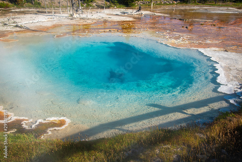 Fotografie, Tablou Geothermal feature at old faithful area at Yellowstone National Park (USA)