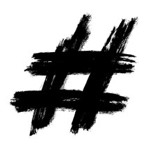 Hashtag Symbol Cross Plus Logo...