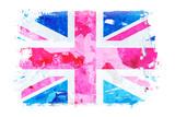 Fototapeta Fototapeta Londyn - Szkic flagi narodowej na białym tle