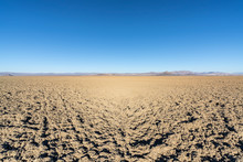 Mud Flats At Soda Dry Lake In The Mojave Desert Near Baker, California.