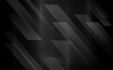 Black Brush Metal Abstract Geometric Background With Transparency Abstract Layer. Modern Geometric Technology.