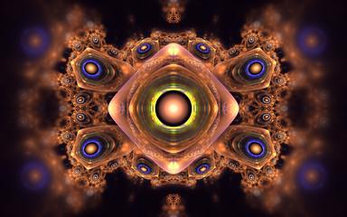 Vivid shining fractal pattern