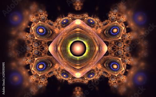 Obraz Vivid shining  fractal pattern - fototapety do salonu