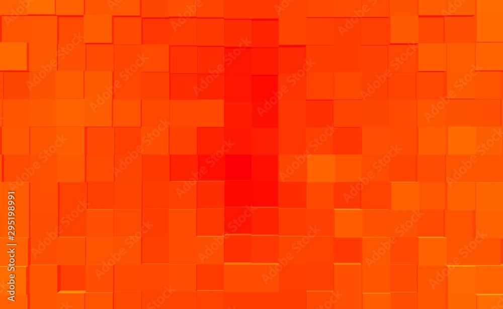 Fototapety, obrazy: Abstract cube 3d extrude background, illustration render.