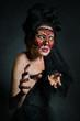 Leinwandbild Motiv Creepy woman without a face