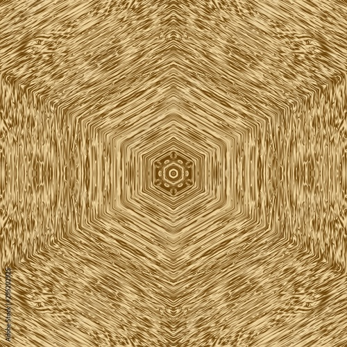 Gold symmetry pattern and geometric golden design, seamless ornament Canvas Print