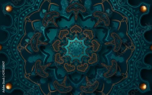 Valokuvatapetti Paper graphic of islamic geometric art