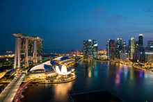 Panorama Of Singapore Business...