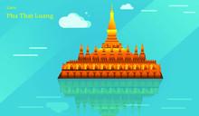Flat Design Pha That Luang Ill...