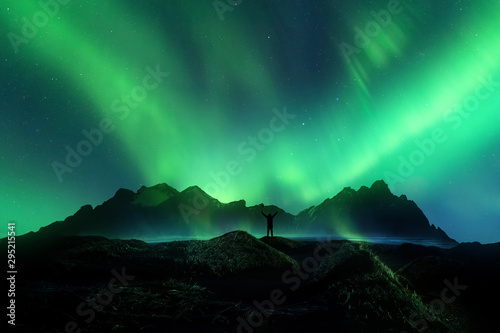 Wall Murals Northern lights majestic Northern lights .