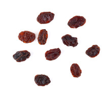 Top View Of Dried Raisins Isol...