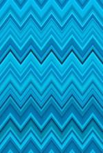 Aquamarine Chevron Zigzag Turq...