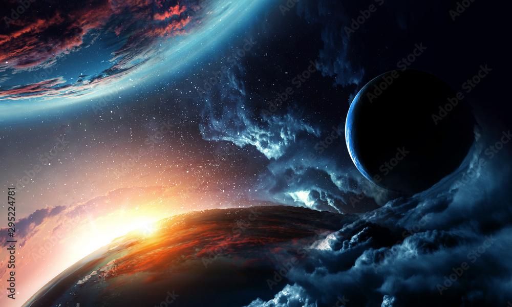 Obraz Abstract planets on space texture fototapeta, plakat