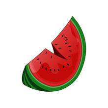 Watermelon Sliced With Seeds -...