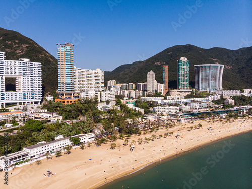 Aerial view of the famous Repulse bay in Hong Kong island on a sunny day Fototapeta