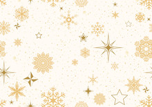 Christmas Pattern With Golden ...