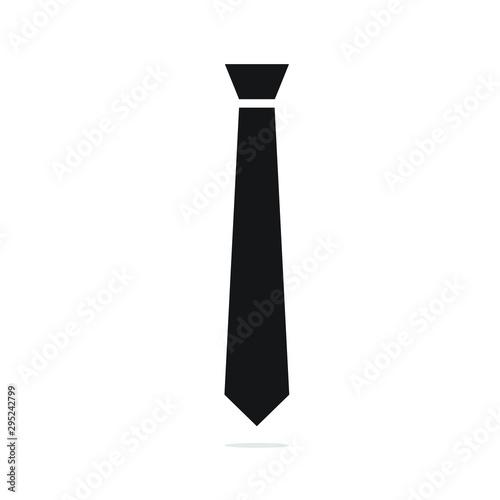 Tela Tie icon vector illustration. Tie flat design. tie simple logo