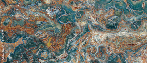 Obraz na plátně Natural Aqua Marble Stone Texture Background, Watercolor Marble With Gray Curly Veins, It Can Be Used For Interior-Exterior Home Decoration and Ceramic Tile Surface, Wallpaper