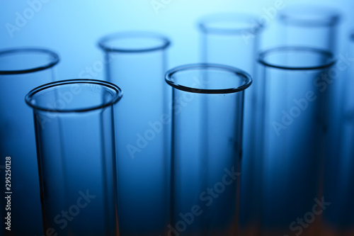 Test tubes in a laboratory for scientific tests and medical examinations Canvas Print