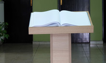 Lectern Open Book On Stand For...