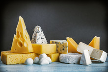 Assorted Cheeses, Soft, Hard, ...