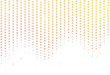 Light Red, Yellow Vector Texture With Disks.