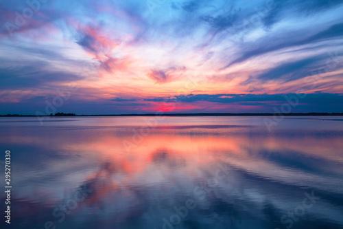 Foto auf Gartenposter Blaue Nacht Abendstimmung am Meer
