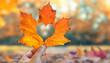 Leinwandbild Motiv bunte herzliche Herbstgrüße