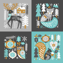 Scandinavian Christmas Illustr...