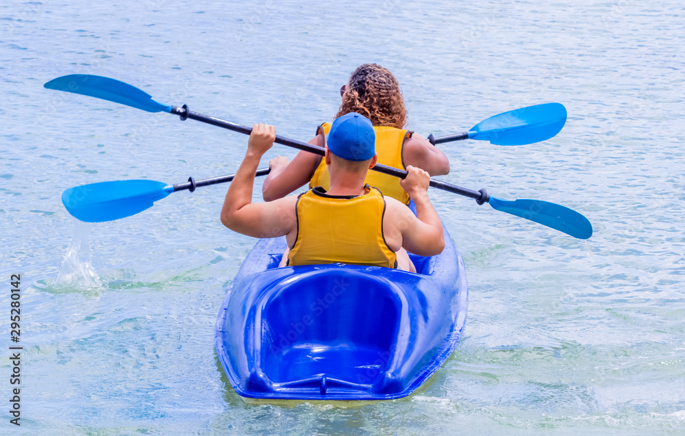Fototapety, obrazy: man in kayak