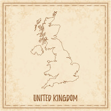 Pirate Map Of United Kingdom. ...