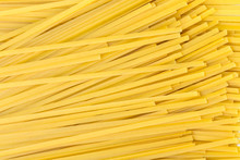Raw Pasta Of Different Shapes From Durum Wheat Closeup Background.