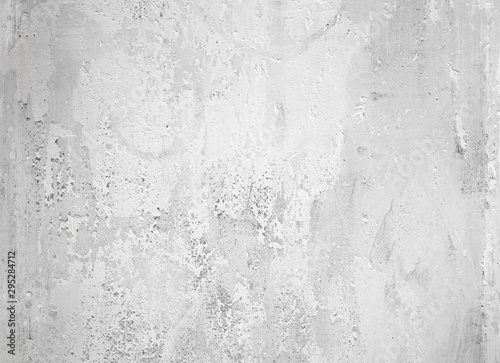 Foto op Canvas Betonbehang Old peeling white paint on concrete wall, texture background
