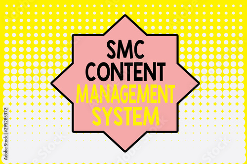 Writing note showing Smc Content Management System Wallpaper Mural