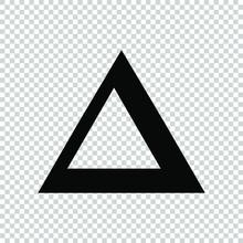 Symbol Delta Icon Flat Vector ...